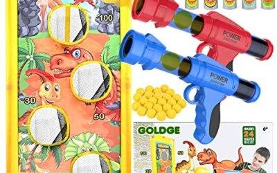 GOLDGE Gioco di Bersaglio di Tiro, 37 Pezzi Blaster Giocattolo Set con 2…