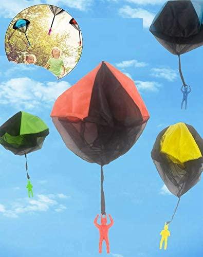 Giocattoli Paracadute, 4 Pezzi Paracadute,Giochi all'aperto per Bambini,...