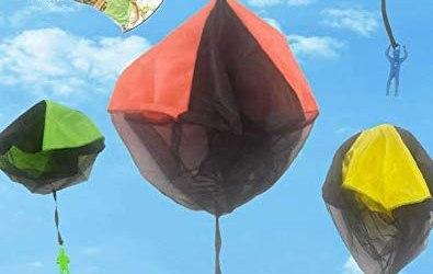 Giocattoli Paracadute, 4 Pezzi Paracadute,Giochi all'aperto per Bambini,…