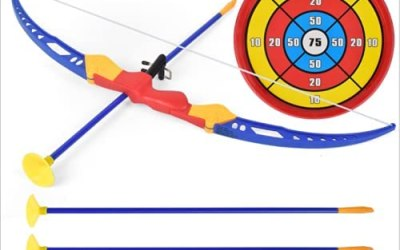 Locisne Set di Giocattoli Freccia con Arco con Ventosa Bersaglio Frecce…