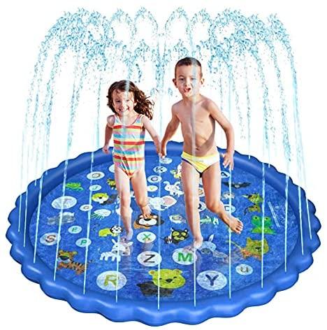 Czemo 68 Pollici Tappetino Gioco d'Acqua per Bambini, Estivo Splash Play...