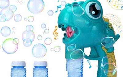 GUBOOM Macchina per bolle di sapone bambini, pistola per bolle di sapone di…