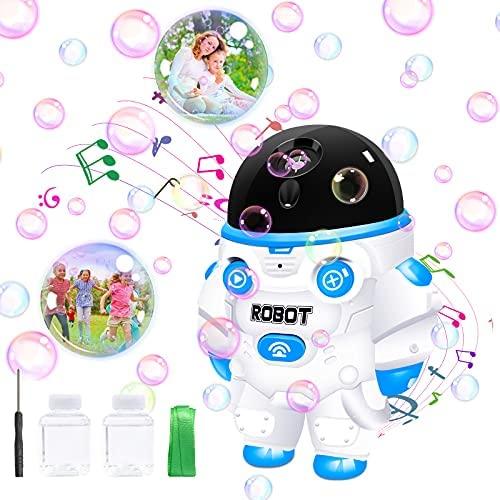 Macchina per bolle per bambini, soffiatore automatico di bolle 1000+ al...