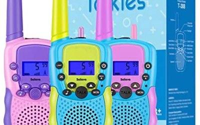 Selieve Walkie-Talkie Giocattoli per Bambini Bambina 3-8 Anni, Gamma 3 KM 8…