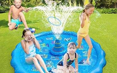 Tappetino Gioco d'Acqua per Bambini,Petrichor 66,93 pollici Piscina per…