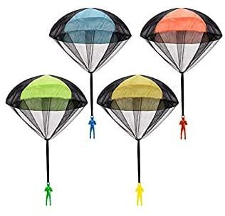 YK 4 Pezzi Paracadute per Bambini Set Paracadute per Bambini paracadutista...
