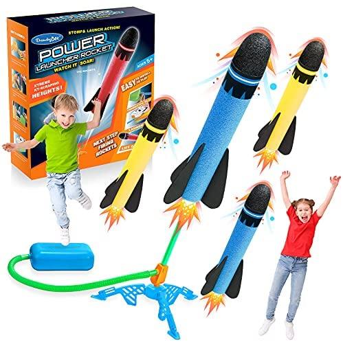 DEVRNEZ Stomp Giocattolo Rocket, Giocattolo del Razzo Giochi all'aperto -...