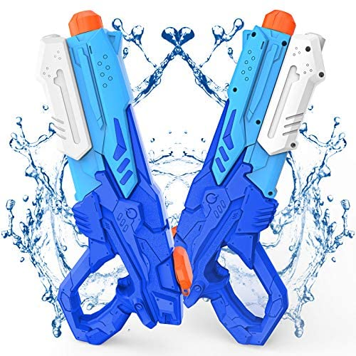 Kiztoys Pistola Acqua, 2 Pack Giocattoli Pistole ad Acqua 600ML, con Alta...
