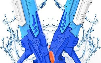 Kiztoys Pistola Acqua, 2 Pack Giocattoli Pistole ad Acqua 600ML, con Alta…