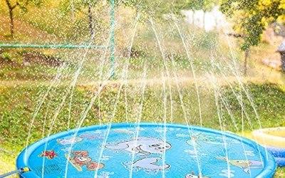Tappetino Gioco d'Acqua per Bambini,170cm Spruzzi e Splash Tappeto Gioco…