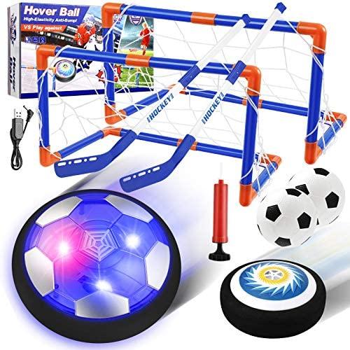 EXTSUD Giochi Bambini Set Pallone Calcio, Air Hover Palla Calcio e Hockey...