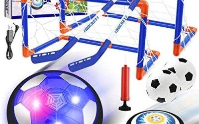 EXTSUD Giochi Bambini Set Pallone Calcio, Air Hover Palla Calcio e Hockey…