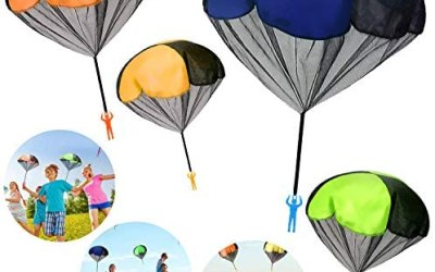 Giocattoli da Paracadute per Bambini, Paracadute a Mano(4 pcs), Paracadute…