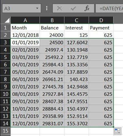 Excel Loan Payment 05