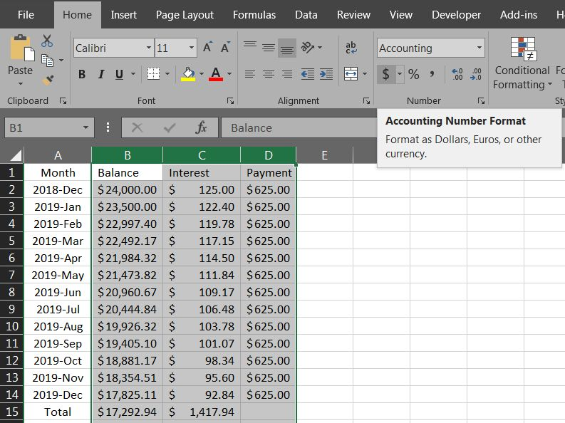 Excel Loan Payment 08