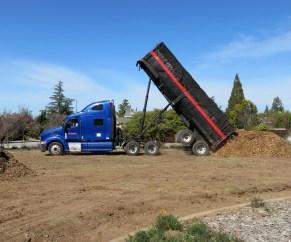 Dumping the mulch