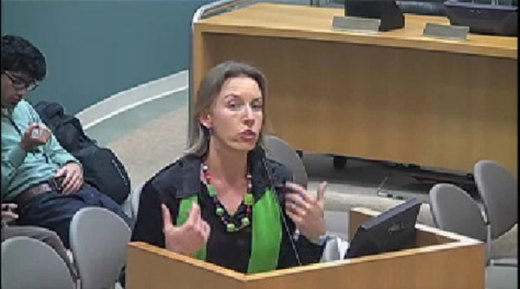 Cardiff attorney and Encinitas Traffic Commission Chair Catherine Blakespear was one of 13 residents who addressed the Encinitas City Council during its meeting on March 13.