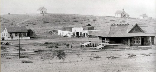The old schoolhouse in the late 1800s and today, below.