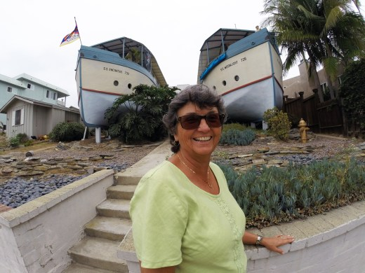One of Barth's favorite places in Encinitas is the site of the historic boat houses, just steps from Pacific View.