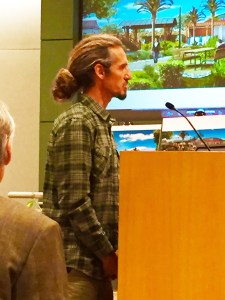 Local surfing legend Rob Machado voiced his support for the Encinitas Arts, Culture and Ecology Alliance's Pacific View plan. (Photo by James Conor McDonald)