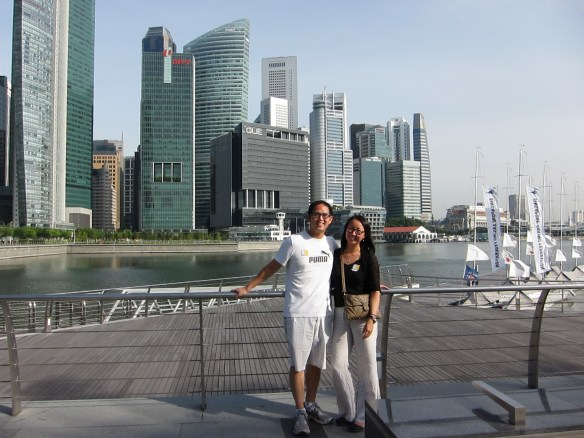 We flew to Singapore on Singapore Airlines, whose space you can't search on united.com