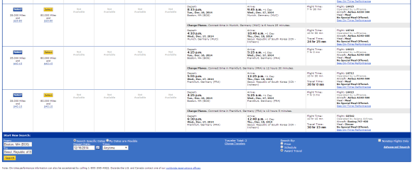 Choose a flight and note its arrival time in Seoul