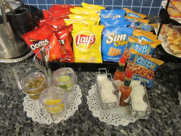 Ample snacks from the lounge in LAX