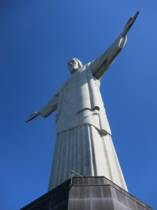 Cristo Redentor Christ the Redeemer from the side
