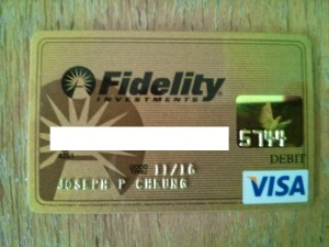 Fidelity Gold Check Card