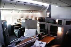 American's new first class cabin