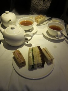 Taking afternoon tea together at 40,000 feet
