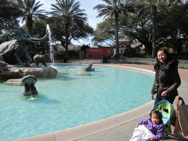 Hanging out by the elephant fountain