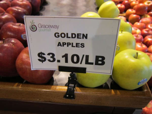 Fruit is not cheap