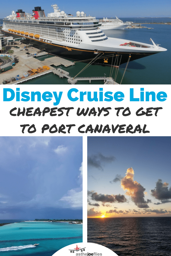 Confused by all the Disney Cruise Line transfer options? We break down the cheapest ways to get from Orlando to Port Canaveral and offer tips and tricks as to how to reduce stress and save money as you start your Disney cruise! #DisneyCruise #Disney #DisneySMMC #FamilyTravel #DisneyCruiseLine