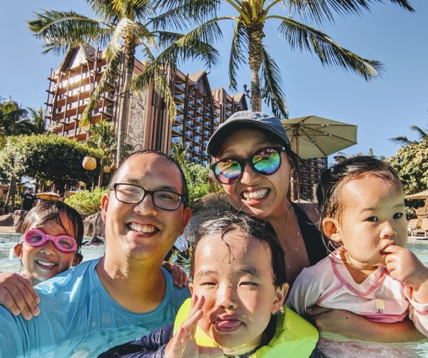 Traveling with a Toddler - Family at the Pool