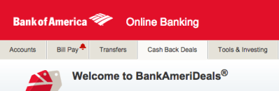 Check Your Bank Of America Card For An BankAmeriDeal