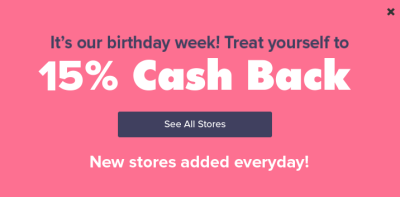 Ebates Birthday Week – 15% cashback at tons of stores including Staples!