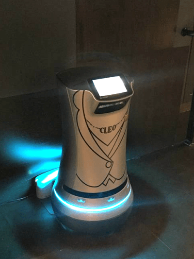 Marriott EMC2 Hotel Chicago Review:  Technology, Robots and Great Slippers