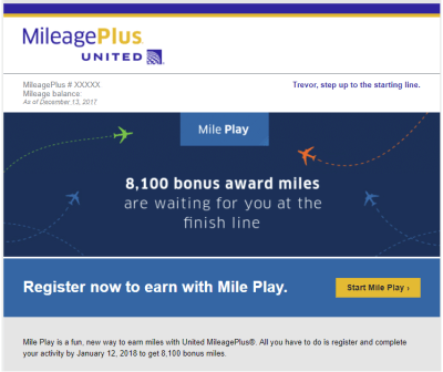 Were you targeted for United Mile Play Bonus Miles?