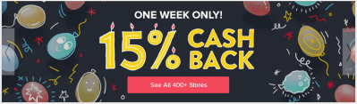 Ebates Birthday 2018 – Staples 15% Cashback today!