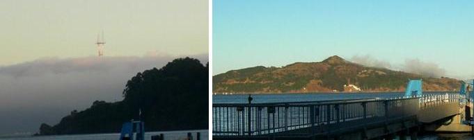 Same-hour photos - Twin Peaks and Angel Island