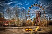 A cidade de Pripyat, na Ucrânia.