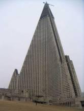 Ryugyong Hotel. Pyongyang, Coreia do Norte .