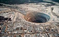 Usina de diamante, Sibéria, Rússia.
