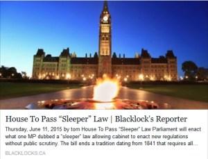 Bill S-2, the Sleeper law
