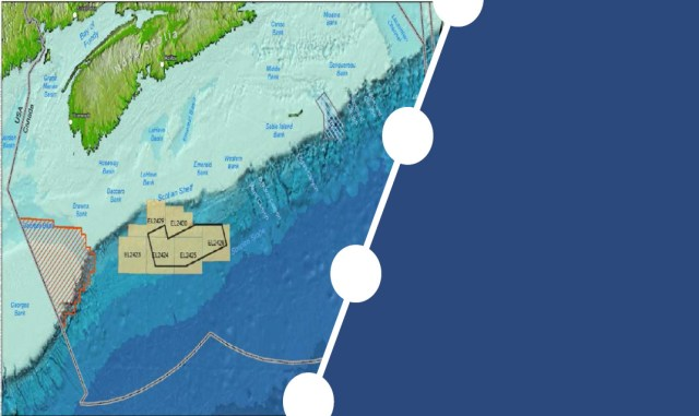 This map shows the are that would be affected by an oil spill