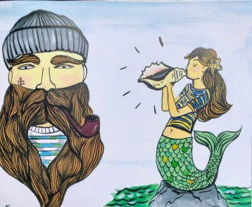 Sea Captain and Mermaid