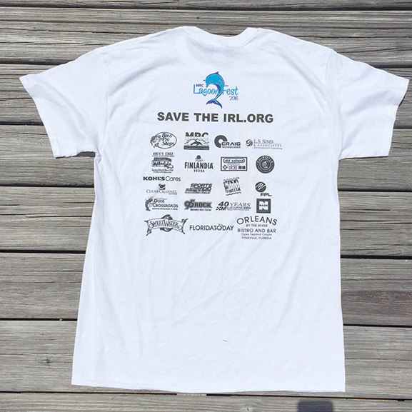 Sponsor T-shirt - White - Back