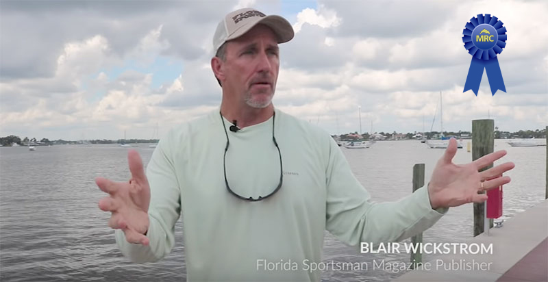 Mr. Blair Wickstrom, MRC's 2019 Wave Maker of the Year Award Recipient For Outstanding Advocacy of the Indian River Lagoon