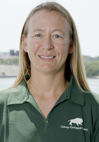 Katie McHugh, Staff Scientist with the Chicago Zoological Society's Sarasota Dolphin Research Program